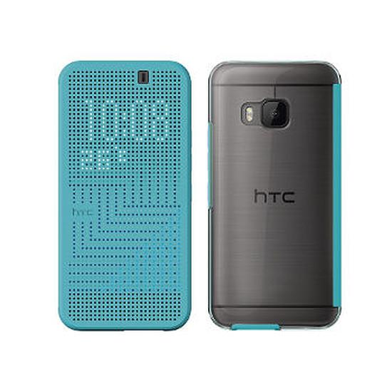 Coque et housse HTC Etui Folio DOT VIEW CASE II (bleu) - HTC One M9