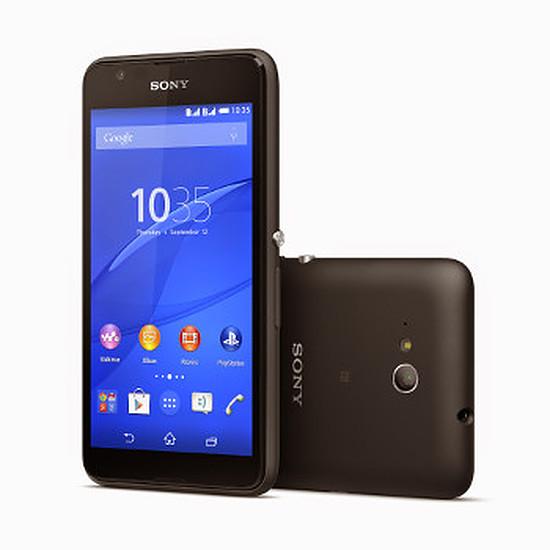Smartphone et téléphone mobile Sony Mobile Xperia E4G (noir)