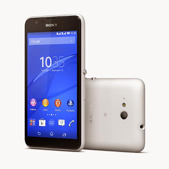 Smartphone et téléphone mobile Sony Mobile Xperia E4G (blanc)
