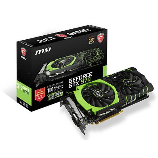 Carte graphique MSI GeForce GTX 970 Gaming 100ME - 4 Go