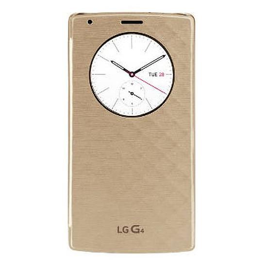 Coque et housse LG Etui Quick Circle à induction (or) - LG G4