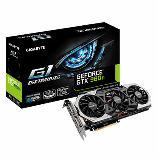 Carte graphique Gigabyte GeForce GTX 980 Ti G1 Gaming - 6 Go