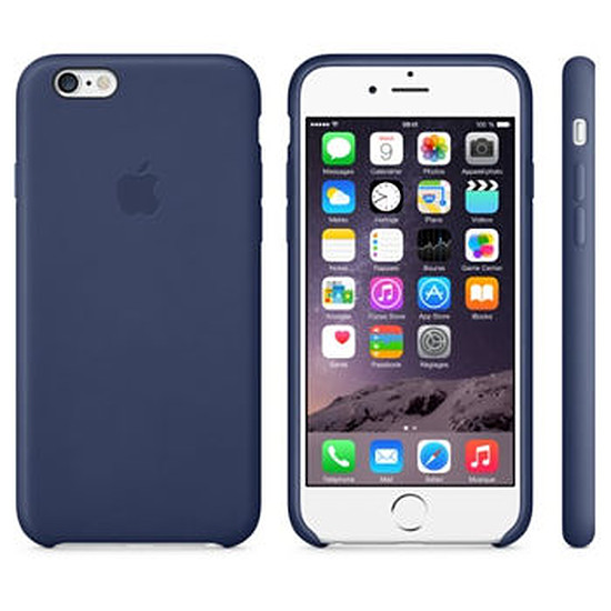 Coque et housse Apple Coque Leather Case iPhone 6 - bleu