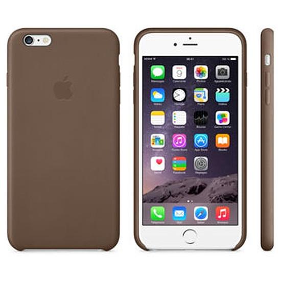 Coque et housse Apple Coque Leather Case iPhone 6 Plus - marron