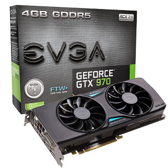Carte graphique EVGA GeForce GTX 970 FTW+ ACX 2.0 - 4 Go