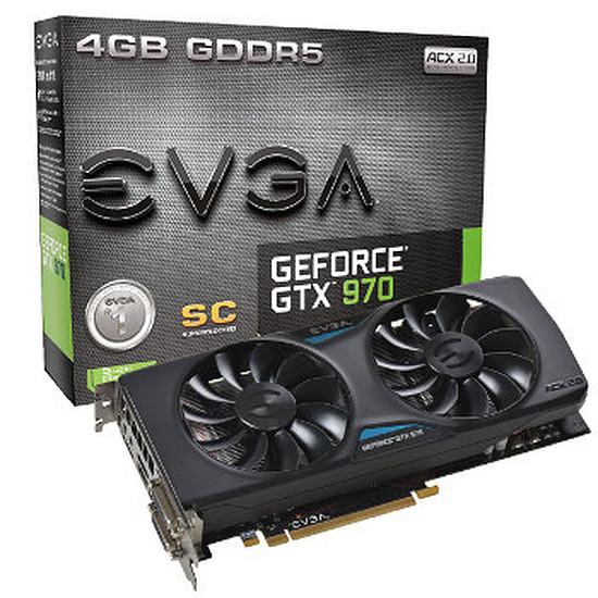 Carte graphique EVGA GeForce GTX 970 Superclocked ACX 2.0 - 4 Go