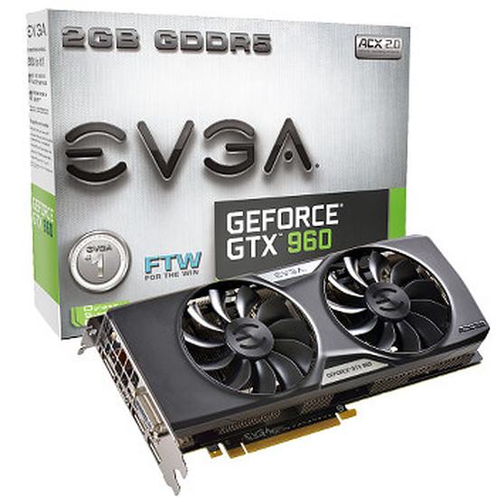Carte graphique EVGA GeForce GTX 960 FTW ACX 2.0+ - 2 Go