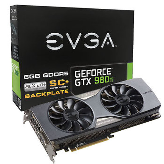 Carte graphique EVGA GeForce GTX 980 Ti SC+ Gaming ACX 2.0+ - 6 Go
