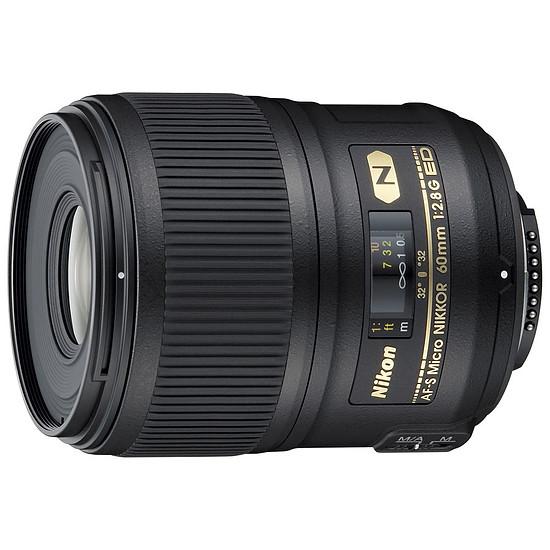Objectif pour appareil photo Nikon AF-S DX Micro 60mm f/2.8G ED
