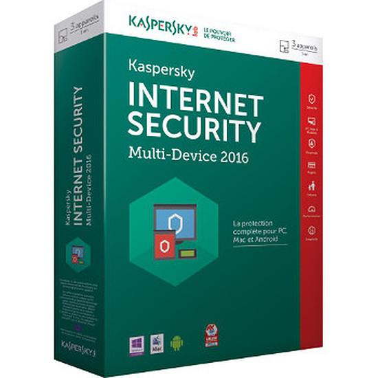 Antivirus et sécurité Kaspersky Lab Internet Security Multi-Device 2016 3 postes 1 an