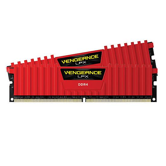 Mémoire Corsair Vengeance LPX Red DDR4 2 x 4 Go 2400 MHz CAS 14