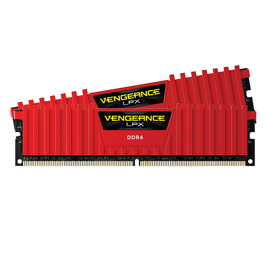 Mémoire Corsair Vengeance LPX Red DDR4 2 x 4 Go 3000 MHz CAS 15