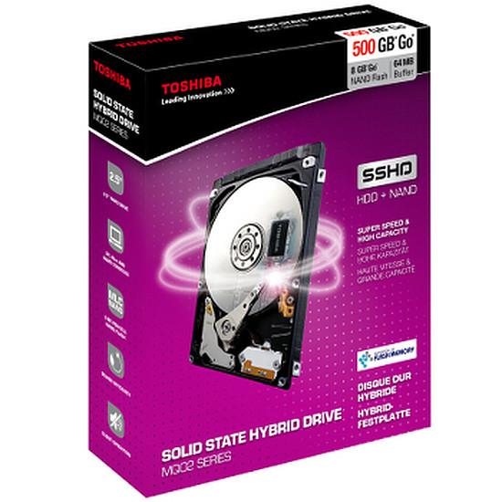 Disque dur interne Toshiba SSHD - 500 Go (7 mm - 8 Go Flash)