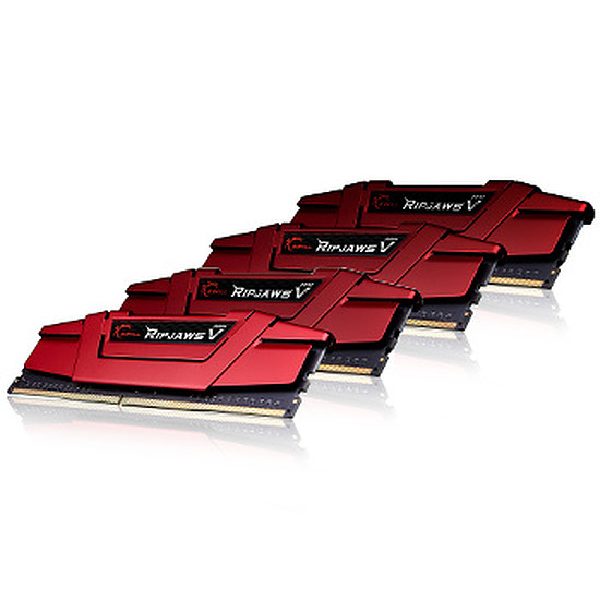 Mémoire G.Skill Ripjaws V Red DDR4 4 x 8 Go 2666 MHz CAS 15