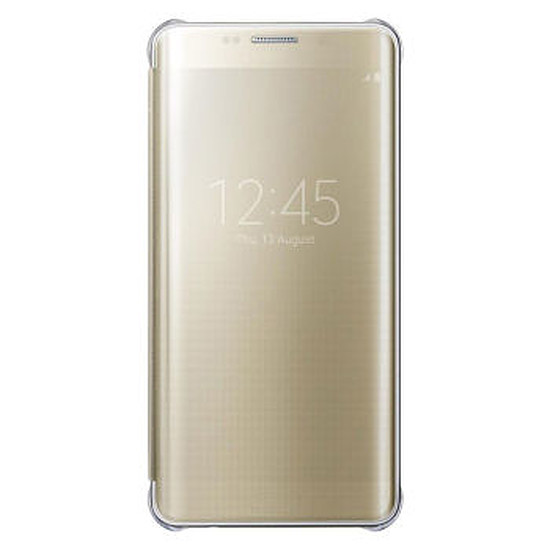 Coque et housse Samsung Etui Clear View Cover (or) - Galaxy S6 Edge +