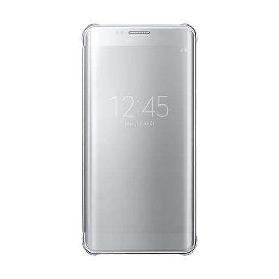 Coque et housse Samsung Etui Clear View Cover (argent) - Galaxy S6 Edge +