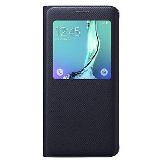 Coque et housse Samsung Etui S View Cover (noir) - Galaxy S6 Edge +