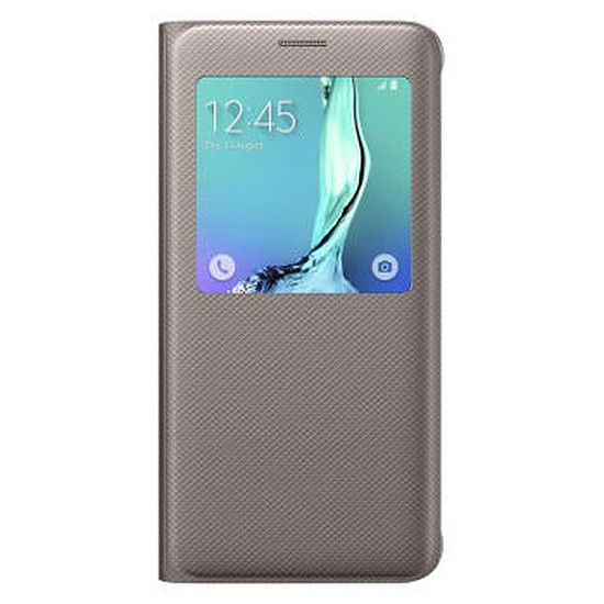 Coque et housse Samsung Etui S View Cover (or) - Galaxy S6 Edge +