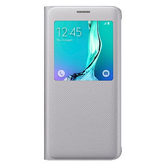 Coque et housse Samsung Etui S View Cover (argent) - Galaxy S6 Edge +