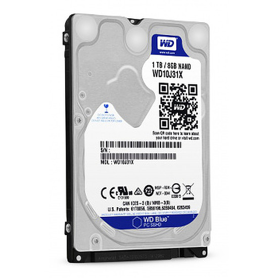 Disque dur interne Western Digital (WD) Blue Mobile SSHD 1 To