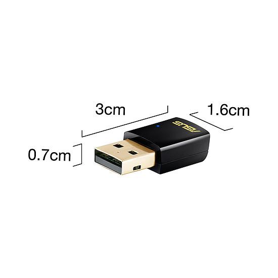 Carte réseau Asus USB-AC51 - Clé USB Wifi AC600 double bande  - Autre vue