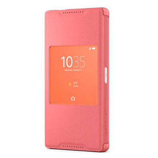 Coque et housse Sony Mobile Etui fenêtre Style up (corail)- Xperia Z5 Compact