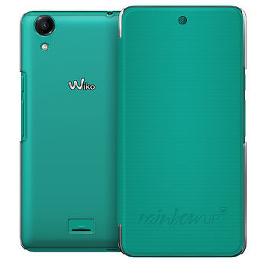 Coque et housse Wiko Folio back cover (turquoise) - Wiko Rainbow UP 4G
