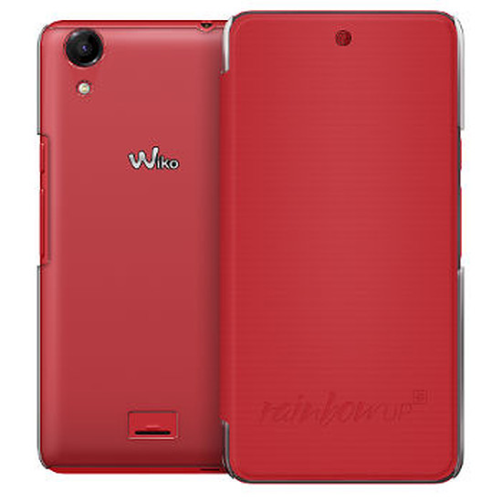 Coque et housse Wiko Folio back cover (corail) - Wiko Rainbow UP 4G