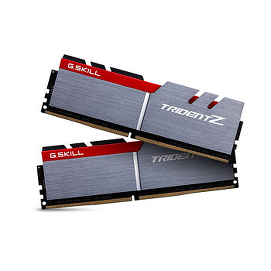 Mémoire G.Skill Trident Z Silver / Red DDR4 2 x 8 Go 3200 MHz CAS 16