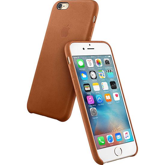 Coque et housse Apple Coque Leather Case iPhone 6s - havane