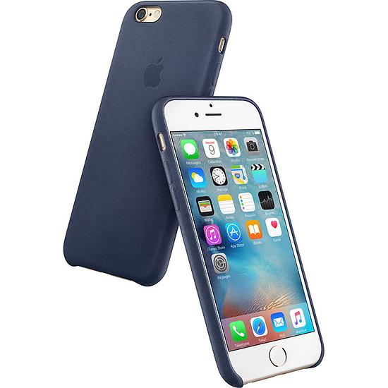 Coque et housse Apple Coque Leather Case iPhone 6s - bleu nuit