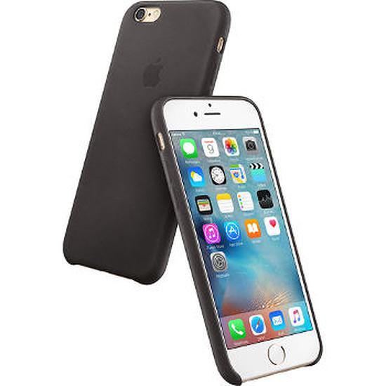 Coque et housse Apple Coque Leather Case iPhone 6s Plus - noir