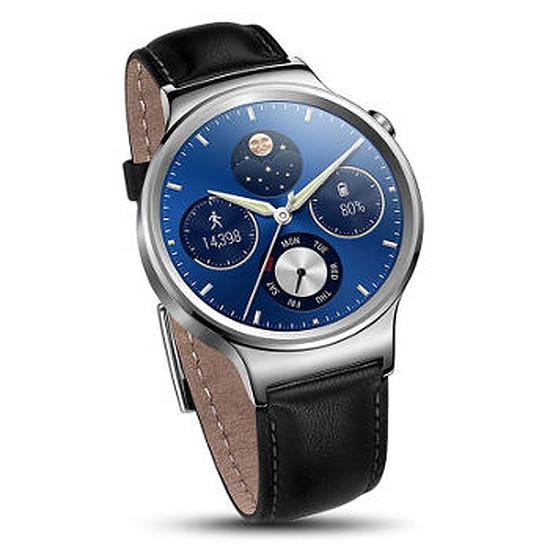 Montre connectée Huawei Watch Classic (argent - bracelet cuir)