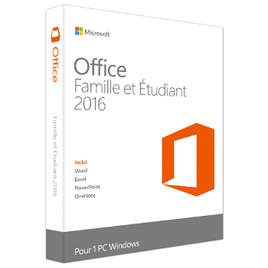 Microsoft Office Microsoft Office Famille et Etudiant 2016