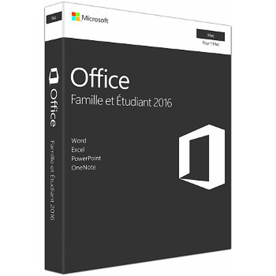 Microsoft Office Microsoft Office Famille et Etudiant 2016 pour Mac