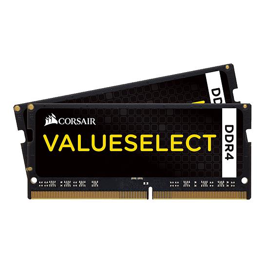 Mémoire Corsair ValueSelect SO-DIMM - 2 x 16 Go (32 Go) - DDR4 3000 MHz - CL18