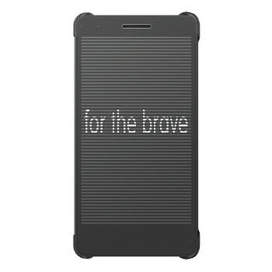 Coque et housse Honor Etui flip Grid case (gris) - Honor 7