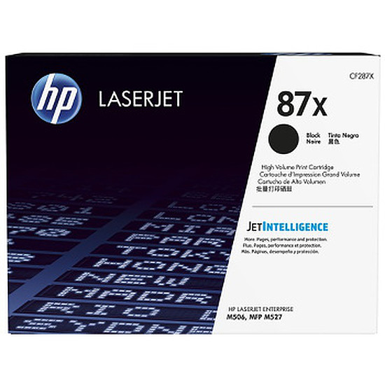 Toner imprimante HP 87X - CF287X Noir Haute capacité