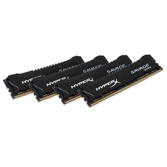 Mémoire Kingston DDR4 4 x 16 Go HyperX Savage 2666 MHz CAS 15