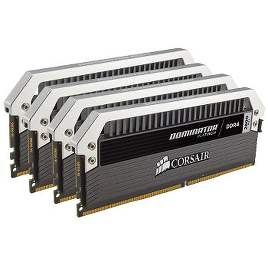 Mémoire Corsair Dominator Platinum DDR4 4 x 4 Go 3200 MHz CAS 15