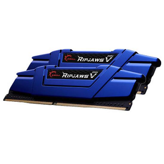 Mémoire G.Skill Ripjaws V Bleu DDR4 Blue 2 x 8 Go 2666 MHz CAS 15