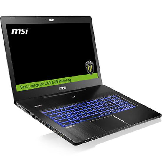 PC portable MSI WS72 6QJ-028FR - i7 - 16 Go - SSD - Quadro - 4K