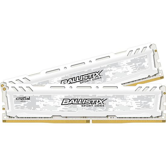Mémoire Ballistix Sport LT White DDR4 2 x 4 Go 2400 MHz CAS 16 SR