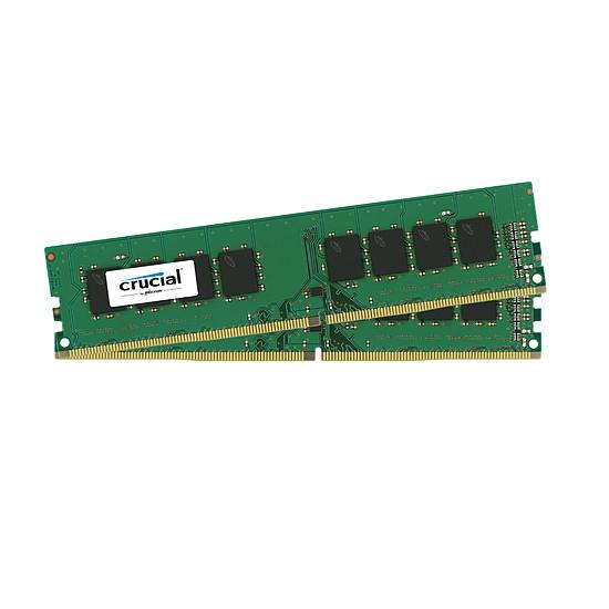 Mémoire Crucial 8 Go (2 x 4 Go) DDR4 2400 MHz CL17 SR