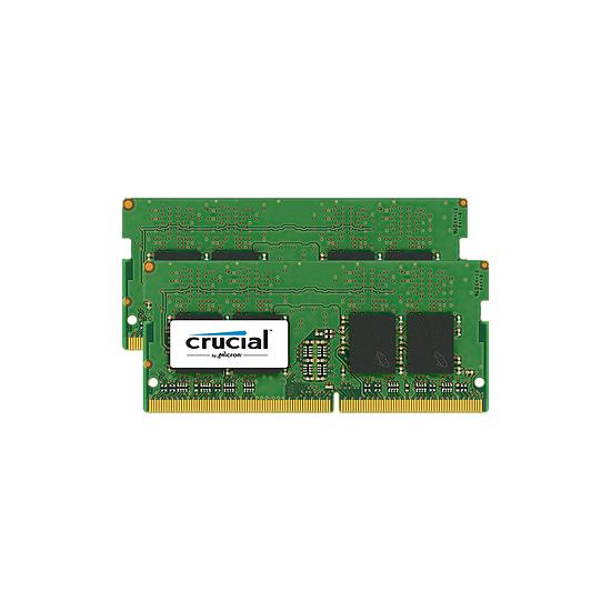 Mémoire Crucial 32 Go (2 x 16 Go) DDR4 2400 MHz CL17 DR SO-DIMM