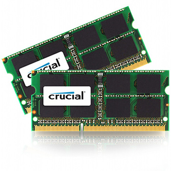 Mémoire Crucial CT2C4G3S186DJM - SO-DIMM DDR3L 2 x 4 Go 1866 MHz
