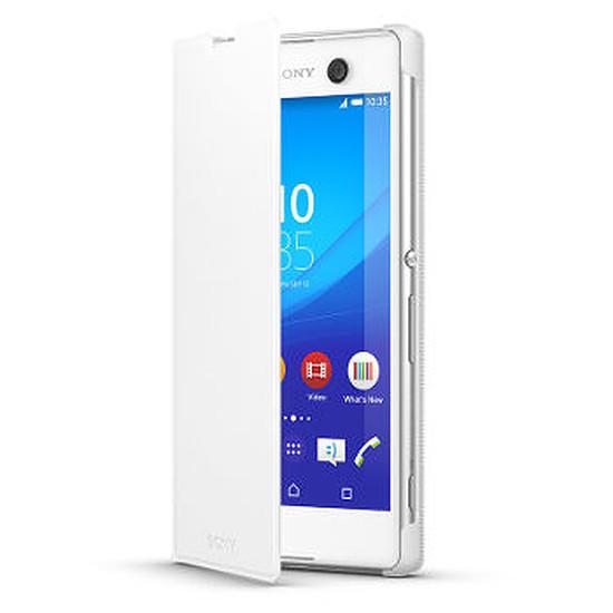 Coque et housse Sony Mobile Etui folio (blanc)- Xperia M5