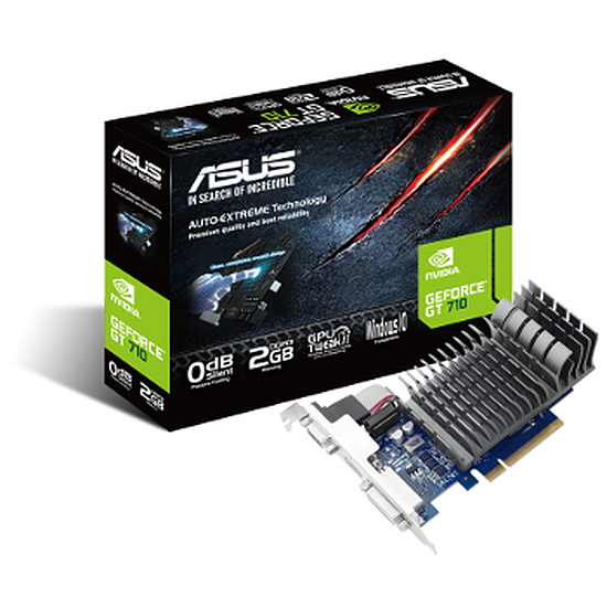 Carte graphique Asus GeForce GT 710 Passive - 2 Go
