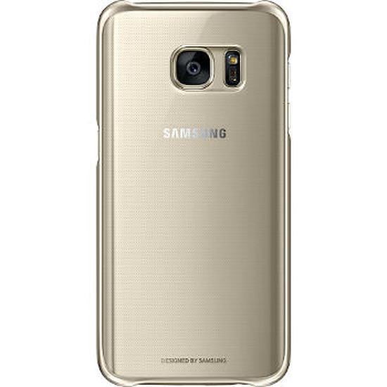 Coque et housse Samsung Coque transparente (or) - Samsung Galaxy S7