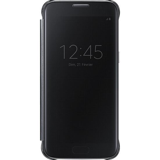 Coque et housse Samsung Etui Clear View Cover (noir) - Samsung Galaxy S7